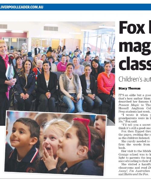 Fox brings magic to classroom