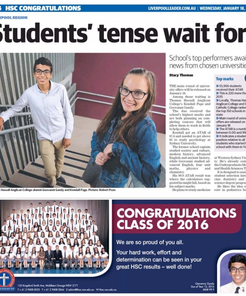 Students tense wait for
