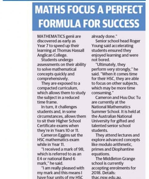 Maths focus a perfect formula for success